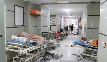 تعداد بیماران ۳ برابر ظرفیت بیمارستانهاست