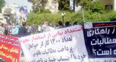 تجمع بازنشستگان مخابرات راه دور شیراز مقابل استانداری فارس