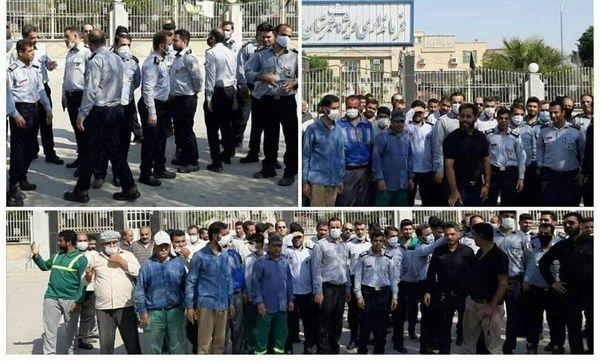 تجمع کارگران شهرداری خرمشهر در اعتراض به پرداخت نشدن معوقات مزدی