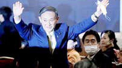 سوگا رسماً نخستوزیر ژاپن شد