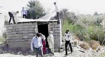 تخریب آلونکِ محل زندگی 3 زن و 5 کودک در بندرعباس