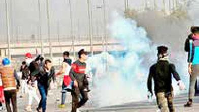 درگیری معترضان و نیروهای امنیتی عراق در میدان التحریر بغداد