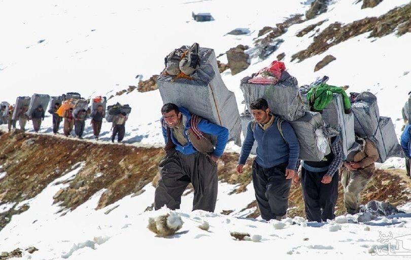 گرفتار شدن پنج کولبر زیر بهمن در مرز ارومیه