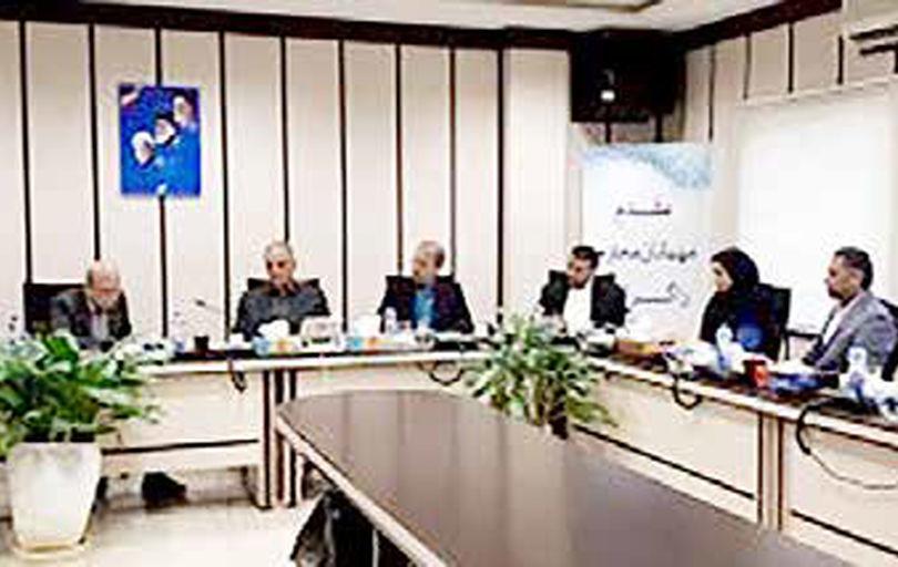 نشست اعضای شورای شهر با مدیر عامل شرکت عمران، آب و خدمات منطقه آزاد کیش