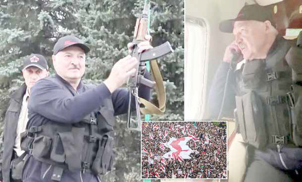 لوکاشنکو دست به سلاح شد!
