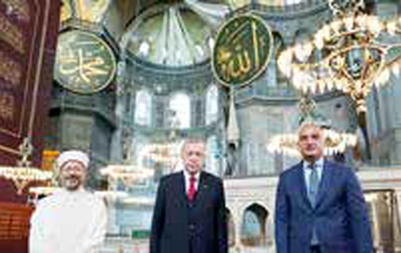 برپایی اولین نماز جمعه در ایاصوفیه پس از نزدیک به یک قرن