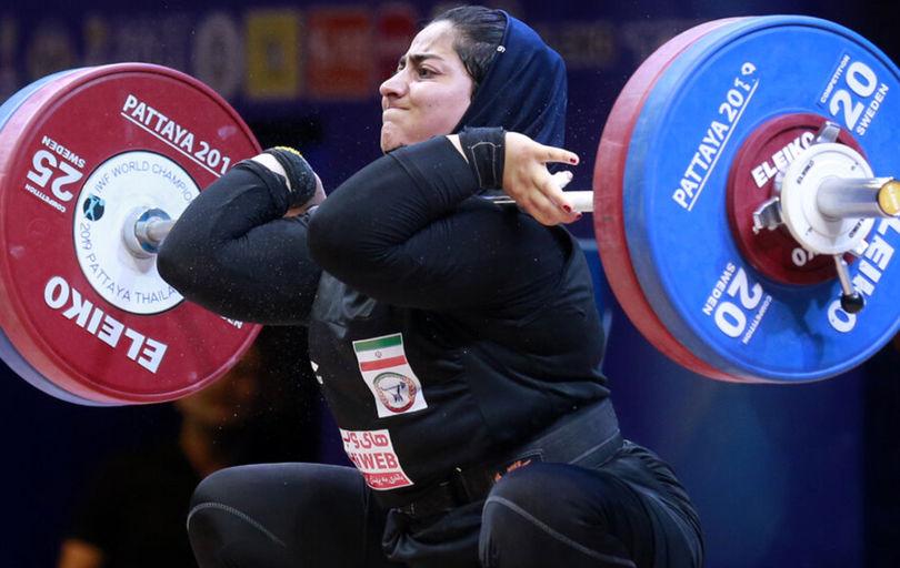 هدف جهانی دختر وزنهبردار