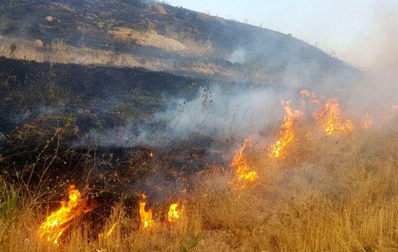 ۳۰ هکتار از مراتع طبیعی دهلران سوخت